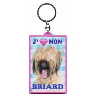 Porte clé 3D J'aime mon Briard