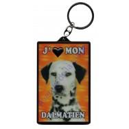 Porte clé 3D J'aime mon dalmatien