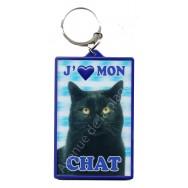 Porte clé 3D J'aime mon Chat
