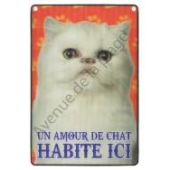 Plaque 3D Un Amour de Chat habite ici