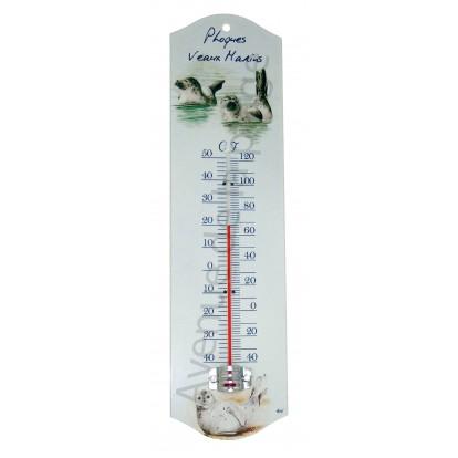 Thermomètre métal Phoques veaux marins