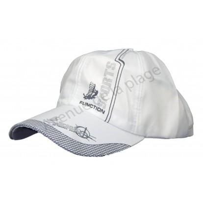 Casquette adulte Sport en polyester blanche.