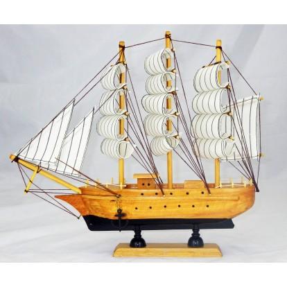 Maquette voilier 3 mâts 33 cm, modèle B.