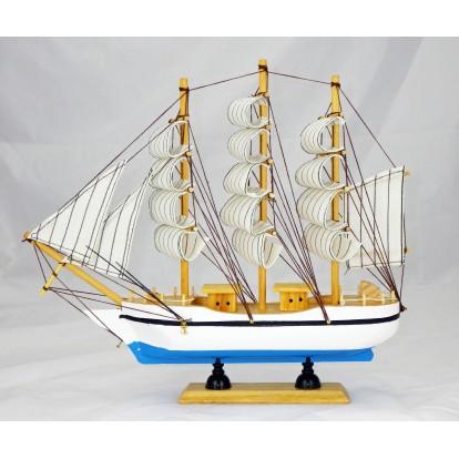 Maquette voilier 3 mâts 33 cm, modèle E.