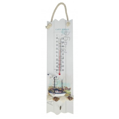 Thermomètre paysage marin 44 cm