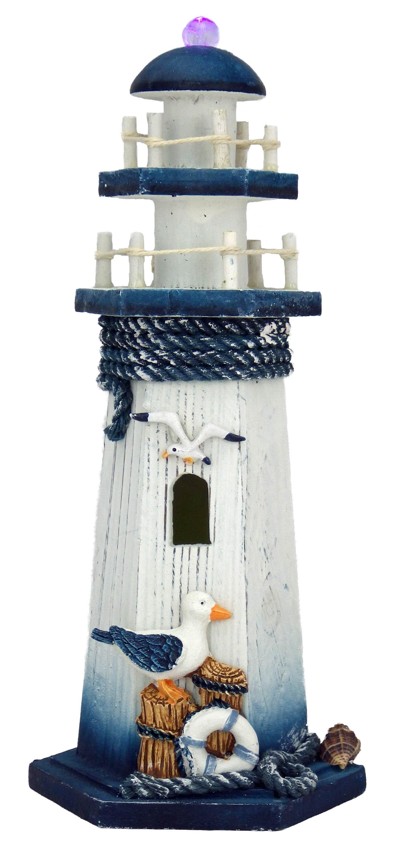 phare marin en bois 26 cm lumineux - achat/vente - avenue de la plage
