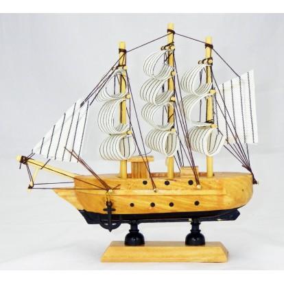 Maquette voilier Trois mâts 16 cm, modèle B.