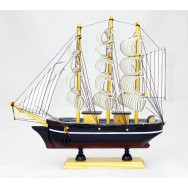 Maquette voilier Trois mâts 24 cm, modèle F.