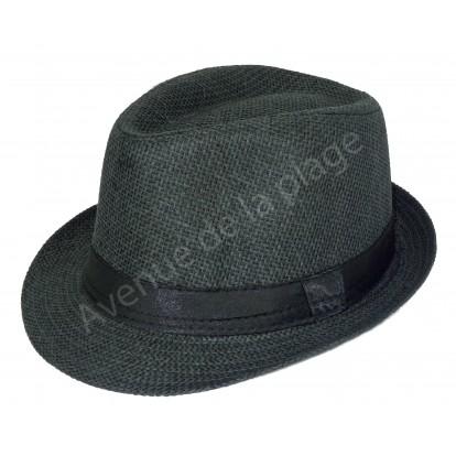 Chapeau style borsalino noir.