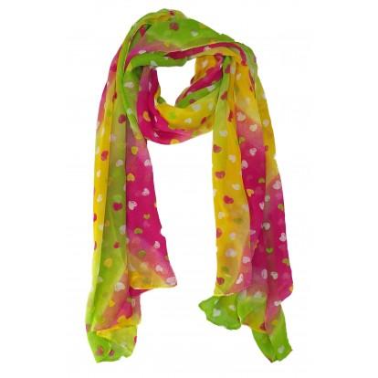 Foulard multicolore coeur