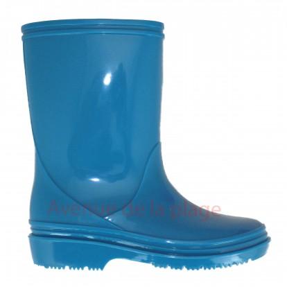 Bottes de pluie Enfant garçon bleues.
