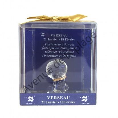 Figurine horoscope Verseau en verre