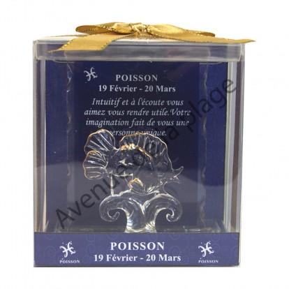 Figurine horoscope Poisson en verre
