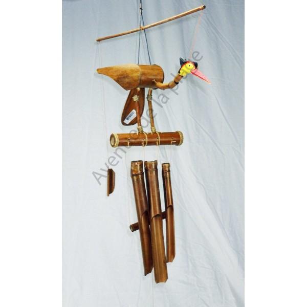 carillon bambou oiseau 60 cm pas cher vente avenue de la plage. Black Bedroom Furniture Sets. Home Design Ideas