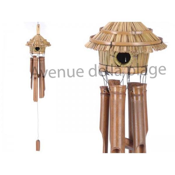 carillon bambou et maison pour oiseaux vente avenue de la plage. Black Bedroom Furniture Sets. Home Design Ideas