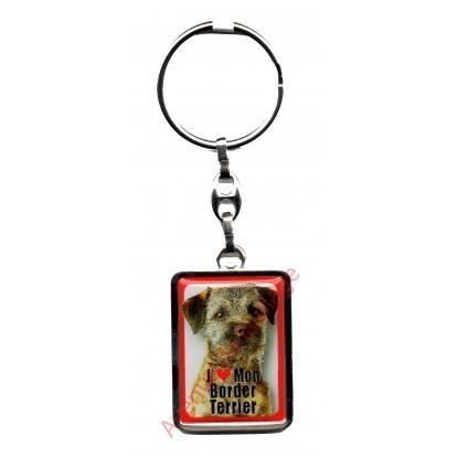 Porte clef chien J'aime mon Border Terrier