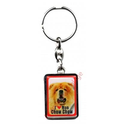 Porte clef chien J'aime mon Chow Chow