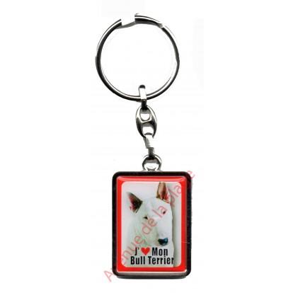 Porte clef J'aime mon Bull Terrier
