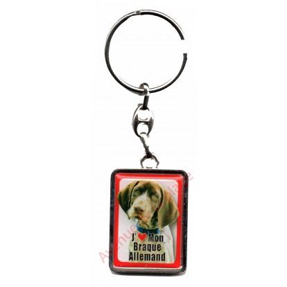 Porte clef J'aime mon Braque Allemand