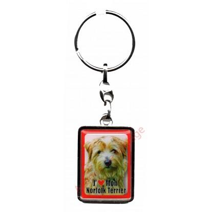 Porte clef J'aime mon Norfolk Terrier