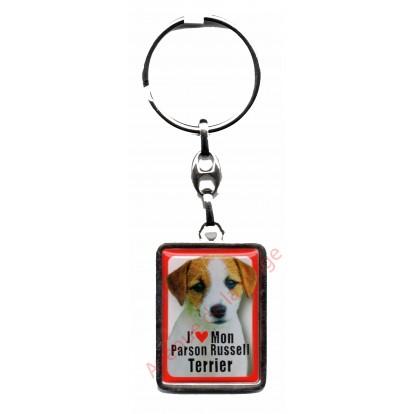 Porte clef J'aime mon Parson Russell Terrier