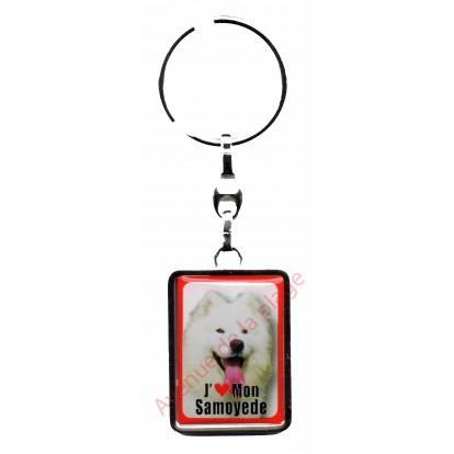 Porte clef J'aime mon Samoyede