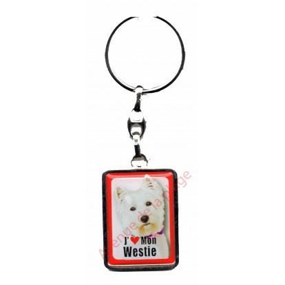 Porte clef J'aime mon Westie