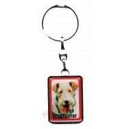 Porte clef J'aime mon Fox Terrier