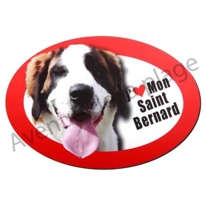 Magnet J'aime mon Saint Bernard