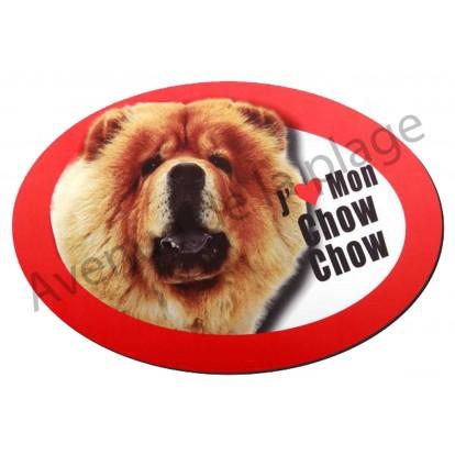 Magnet J'aime mon Chow Chow
