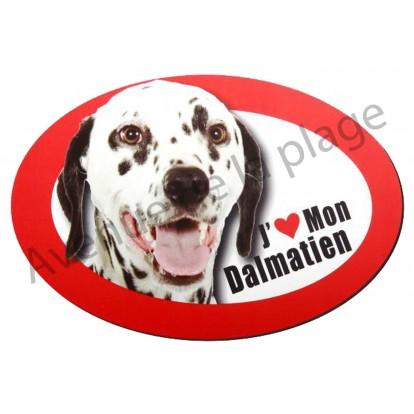 Magnet J'aime mon Dalmatien