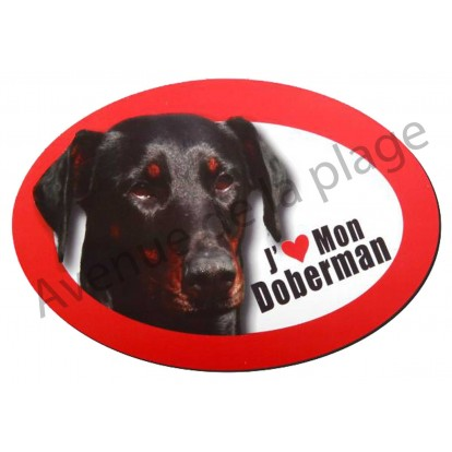 Magnet J'aime mon Doberman
