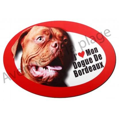 Magnet J'aime mon Dogue de Bordeaux