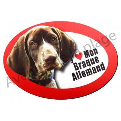 Magnet J'aime mon Braque Allemand