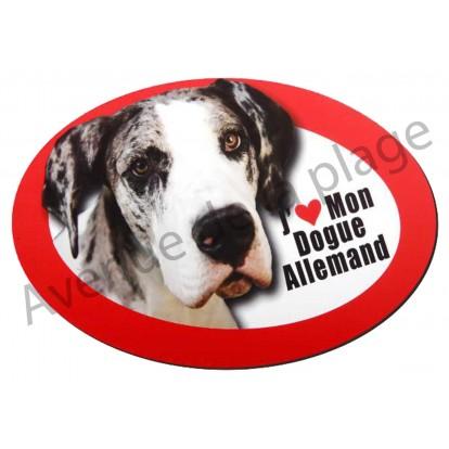 Magnet J'aime mon Dogue Allemand