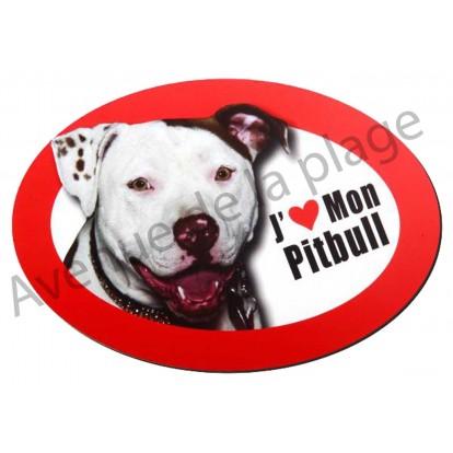 Magnet J'aime mon Pitbull