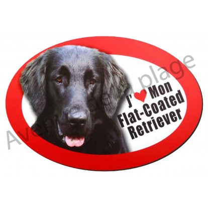 Magnet J'aime mon Flat-Coated Retriever