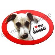 Magnet J'aime mon Whippet