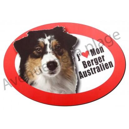 Magnet J'aime mon Berger Australien