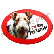 Magnet J'aime mon Fox Terrier