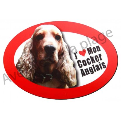 Magnet J'aime mon Cocker Spaniel Anglais