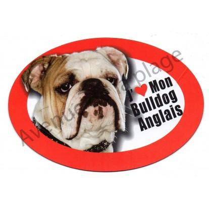 Magnet J'aime mon Bulldog Anglais