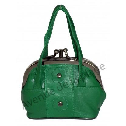 Porte monnaie sac à main vert