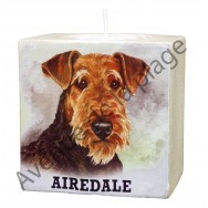 Bougeoir chien - Airedale