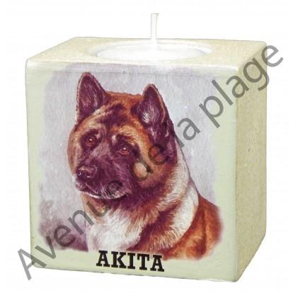Bougeoir chien - Akita