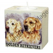 Bougeoir chien - couple de Golden Retriever