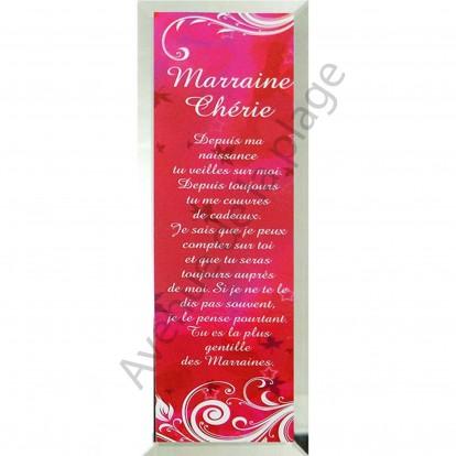 """Miroir message """"Marraine Chérie"""""""