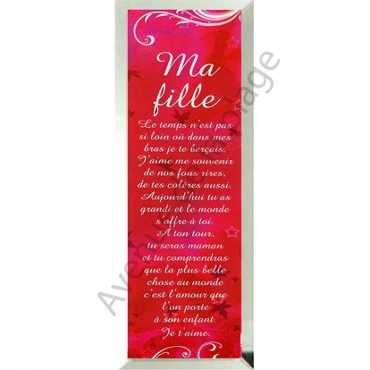 "Miroir message ""Ma Fille"""