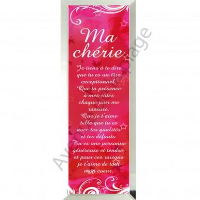 """Miroir message """"Ma Chérie"""""""