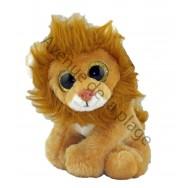 Peluche bébé lion avec yeux scintillants